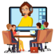 —Pngtree—video meeting online vector woman_5204713